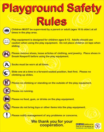 Playground Safety Rules